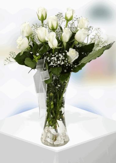11 Beyaz Gül-16 Gaziantep Çiçek Sepeti Siparişi
