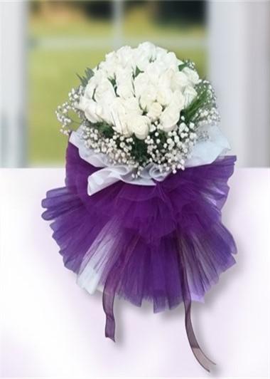 20 Beyaz Gül Demetinin Zarif Duruşu Gaziantep Çiçek Sepeti Siparişi
