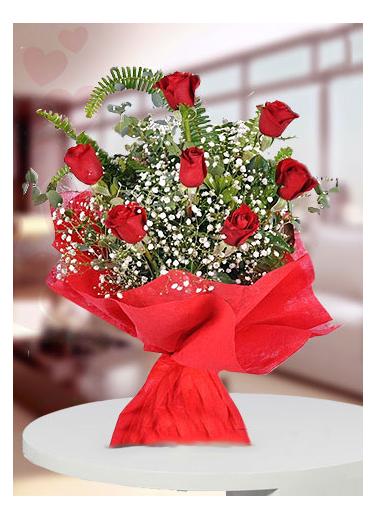7 Gül Buketi-11 Gaziantep Çiçek Sepeti Siparişi