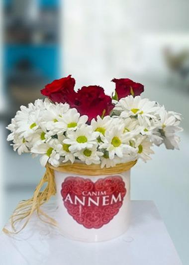 Annem 3 Gül ve Papatya Gaziantep Çiçekciler