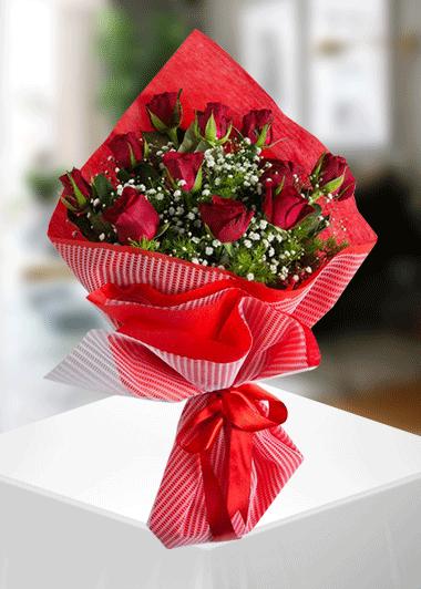 Gaziantep Çiçek 11 Kırmızı Gül Buketi Gaziantep Çiçek Sepeti Siparişi