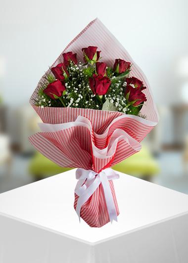 Gaziantep Çiçek Siparişi 9 Gül Buketi