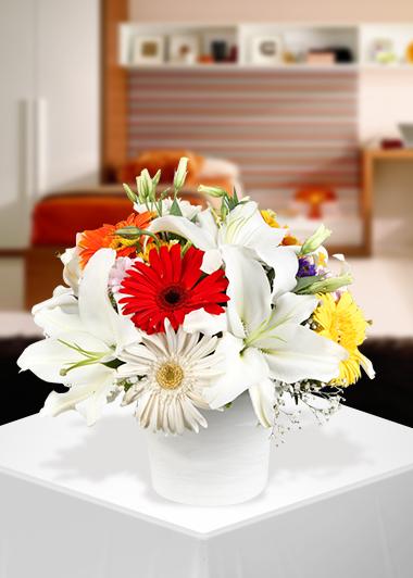 Gerbera ve Lilyumun Buluşması-23 Gaziantep Çiçekciler