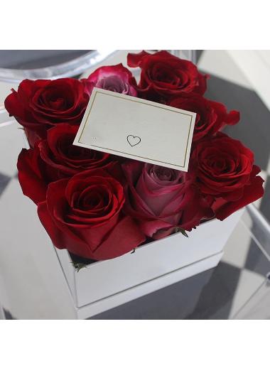 Özel Kutusunda 9 Gül Gaziantep Çiçek Sepeti Siparişi